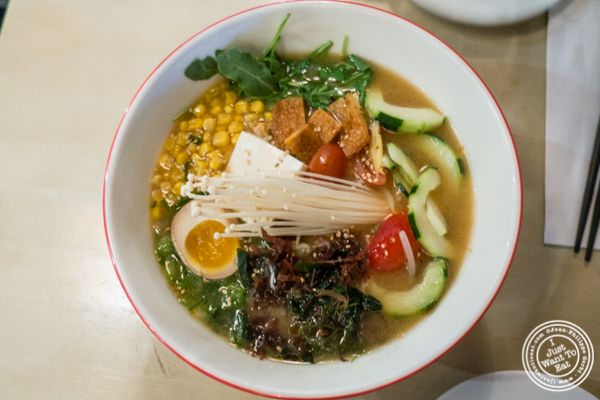 Vegetable ramen at MeiJin Ramen in the Upper East Side, NYC
