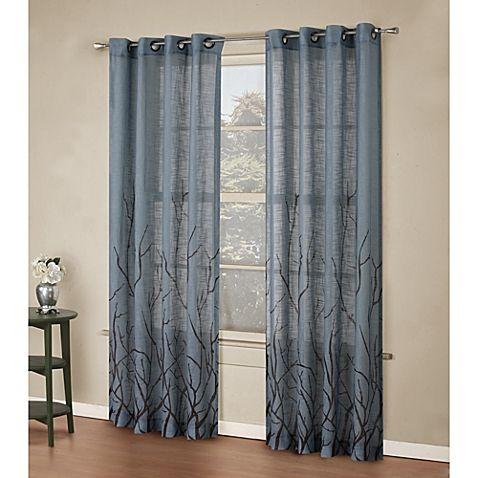 Alton Print Grommet Window Curtain Panel Window Curtains