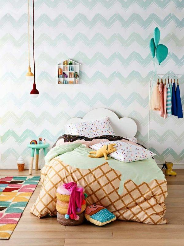 Wunderschöne Tapete Kinderzimmer Tapeten Kinderzimmer Wandgestaltung  Kinderzimmer Ideen
