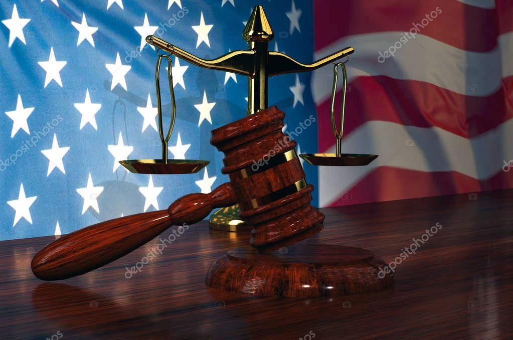Judge Gavel Scale Of Justice With American Flag 3d Illustration Stock Affiliate Scale Justice Judge Ga 3d Illustration American Flag Illustration