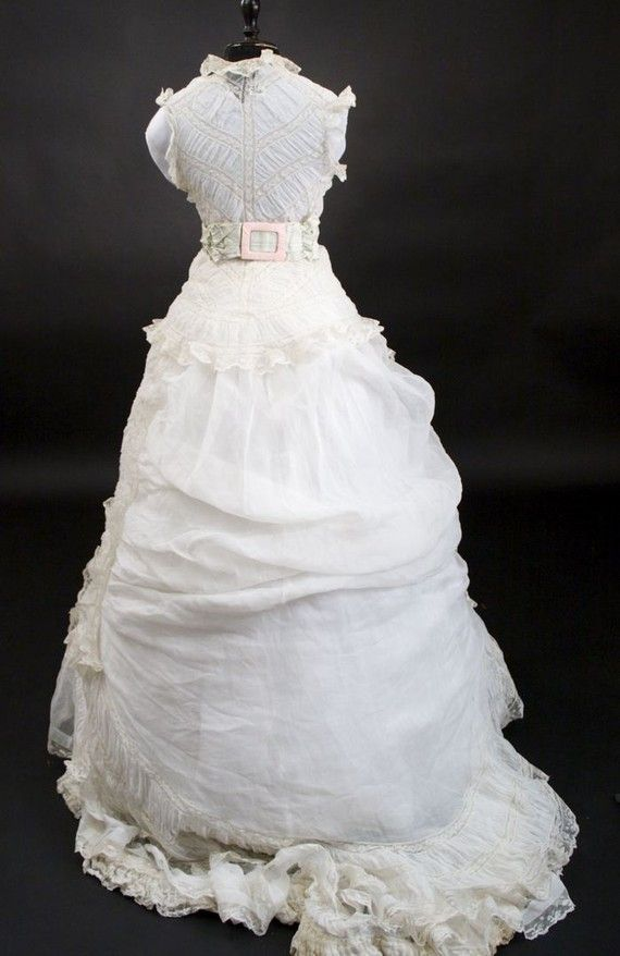 RARE 1800\'s Vintage Victorian Lace wedding dress/ gown by tanja004 ...