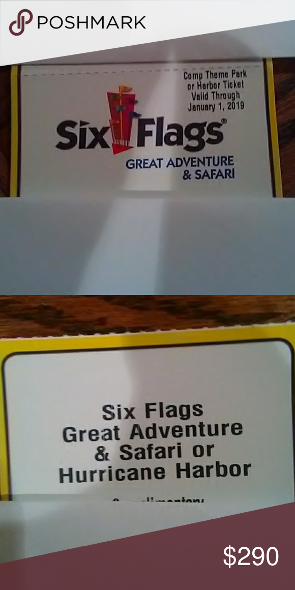 Six Flags Great Adventure 4 Tickets Are Valued Until January 1st 2019 Retail Value 79 99 Plus Tax Pe Six Flags Great Adventure Six Flags Greatest Adventure