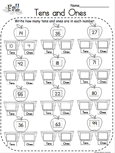 Fall Tens And Ones Math Free Worksheet Made By Teachers First Grade Math Worksheets 1st Grade Math Worksheets Free Math Worksheets
