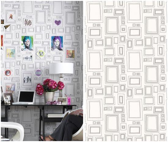 Latest Obsession: Wallpaper   Framed wallpaper, Wallpaper and Barn doors