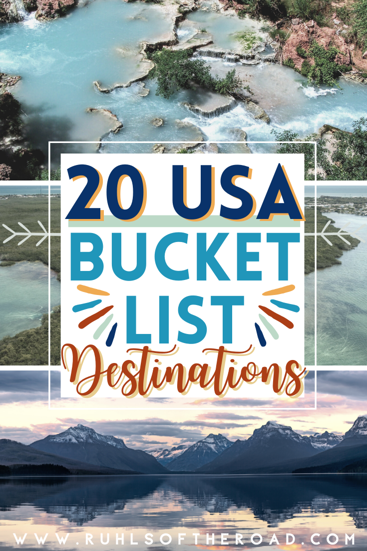 USA bucket list destinations to add to your ultimate bucket list. Road trip in the USA to awesome travel destinations