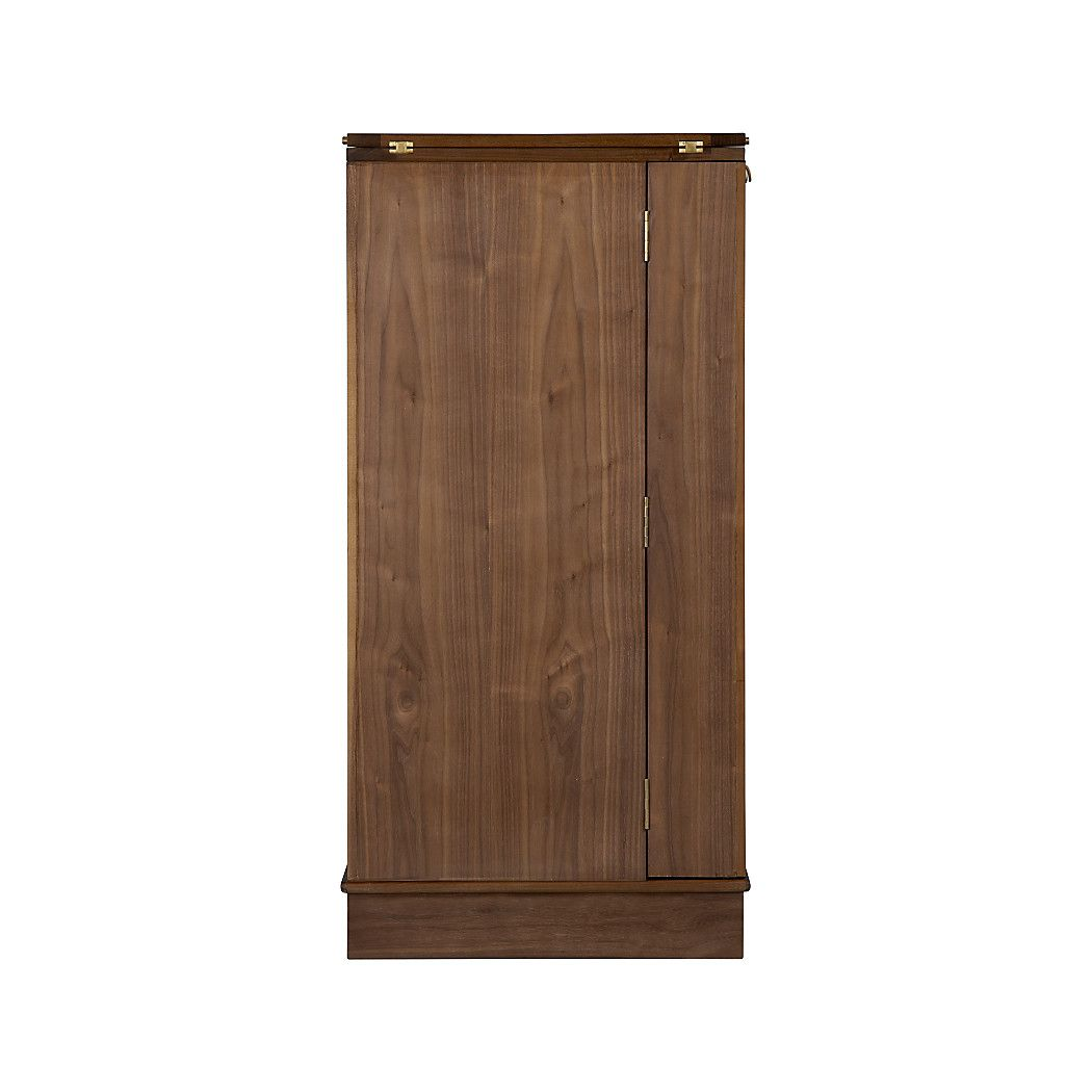Shop Maxine Bar Cabinet. Finished On All Four Sides, Maxine Can Float In A  Room. Its Wood Top Folds Out To An Expanded Work Surface Inset With Black  ...