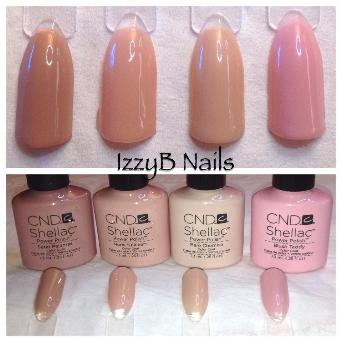 Cnd Shellac Intimates Collection Nail Colorscnd