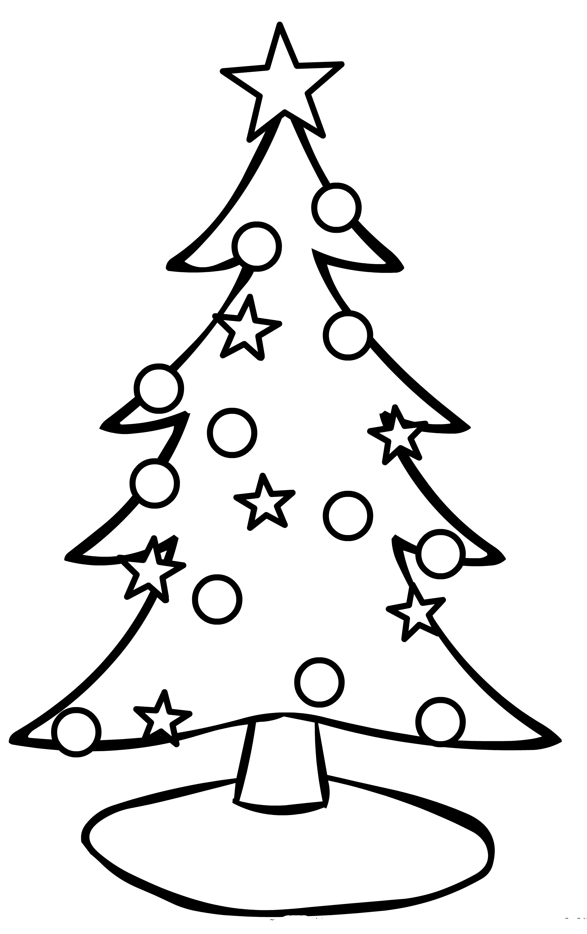 Simple Christmas Tree Coloring Pages Christmas Tree Coloring Page Christmas Tree Drawing Tree Coloring Page