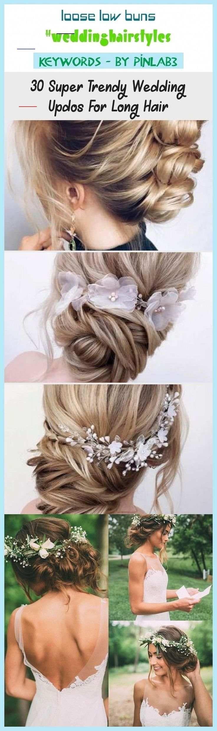 wedding hair front view #wedding #hair #weddinghair Loose low buns #weddinghairs...#buns #front ...