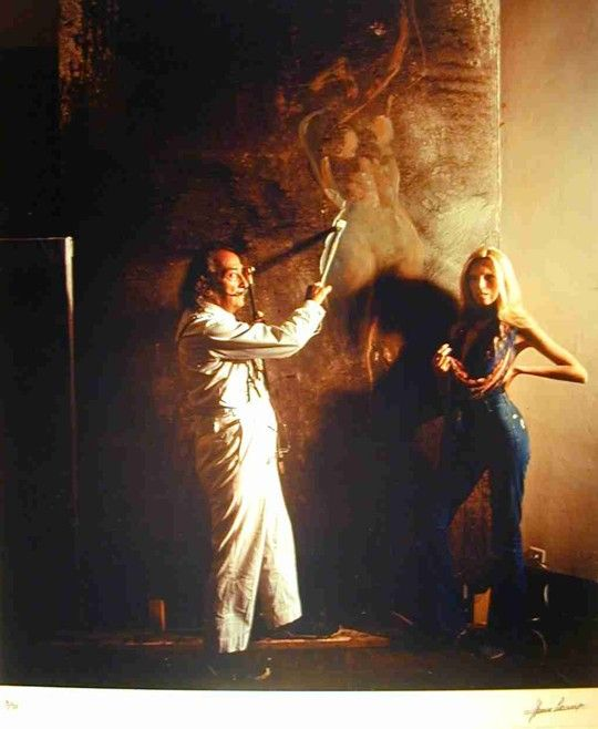 Dali and Amanda Lear, circa 1970