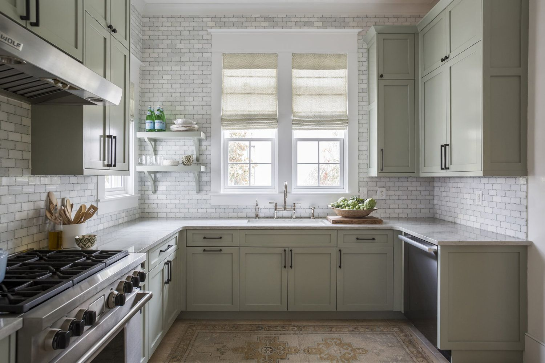 Pin By Amy Zantzinger On Kitchens Green Kitchen Cabinets