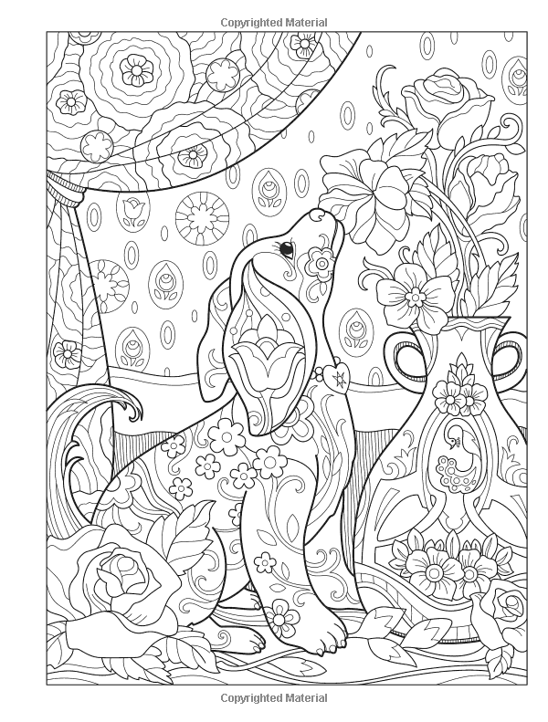 Amazon Creative Haven Playful Puppies Coloring Book Adult 0800759812684