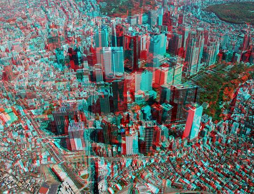 cool 3D city shot