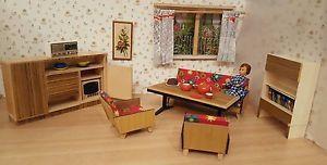Antikes Wohnzimmer Für Die Puppenstube Holz Jahre