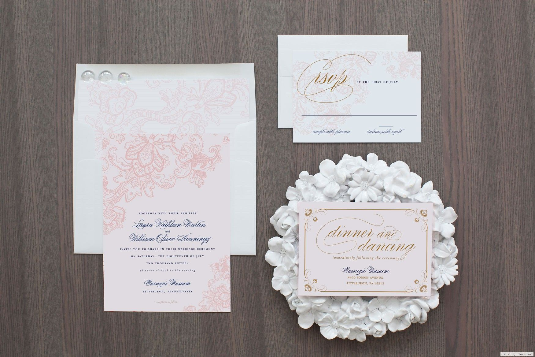 Chantilly Collection | Lace Wedding Suite | Blush Paper Co ...