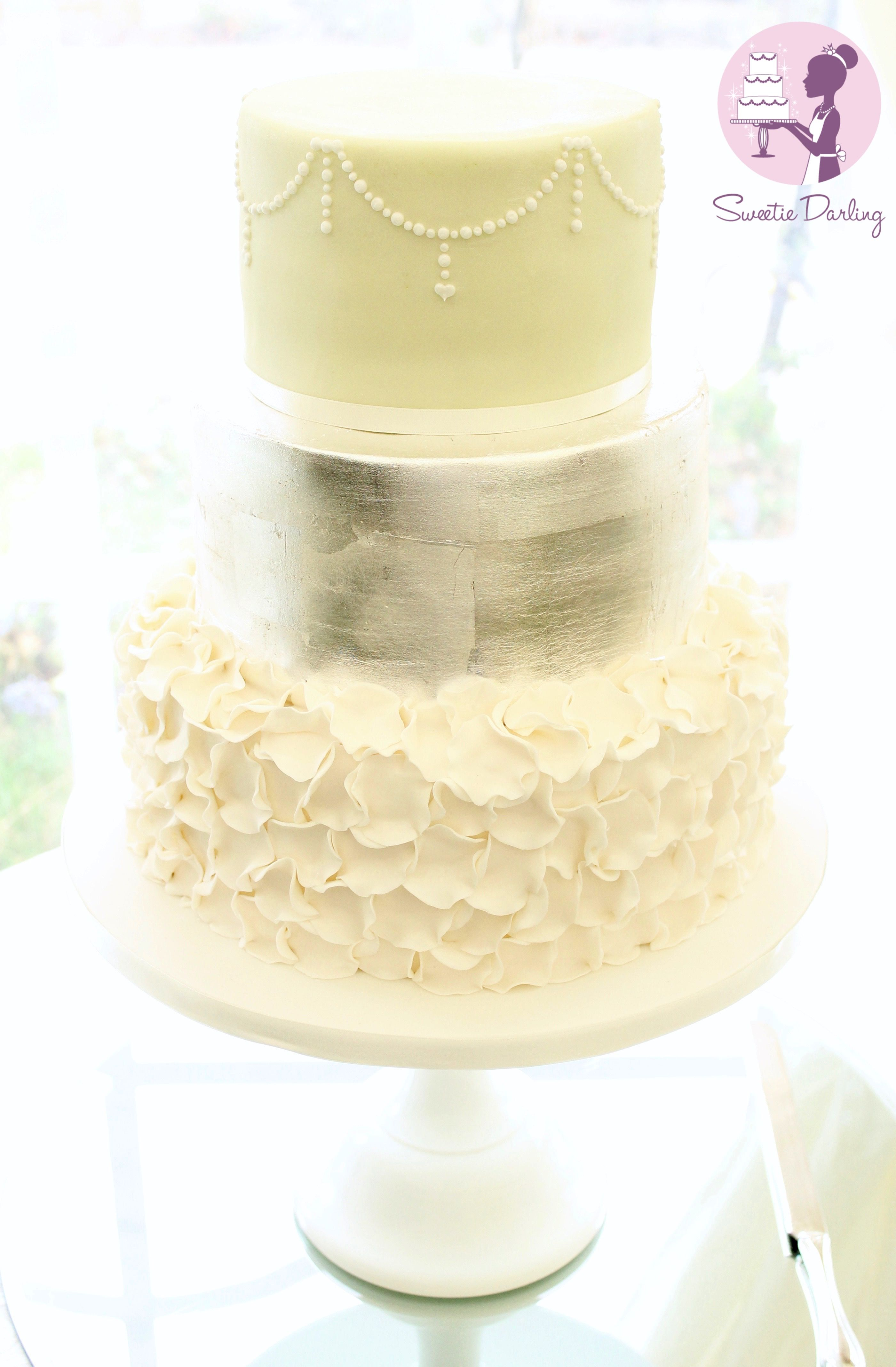 How To Decorate A Cake In Matte Silver Leaf | Leaves, Decorating and ...