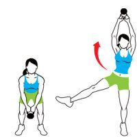 KETTLEBELL EXERCISES  Kettlebell Workout: Take Hold of a Hot Bod  Crank up your workout with these fast-acting total-body exercises