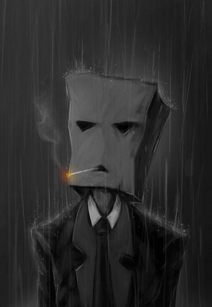 smoking rain artwork cigars 2480x3600 wallpaper Art HD
