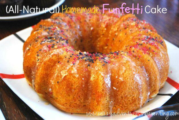 Dessert for dinner! All-Natural Funfetti Cake