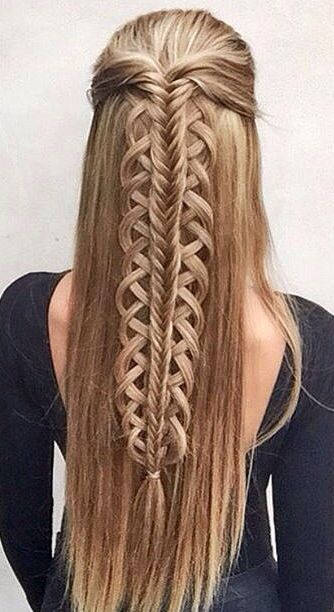 Half Up Hald Down Fishtail Braid Gorgeoushair Hair Styles Long Hair Styles Fish Tail Braid