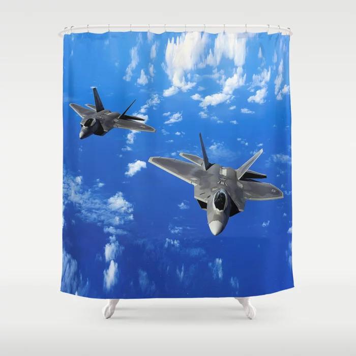 F 22 Raptor Shower Curtain By Dohshin Society6