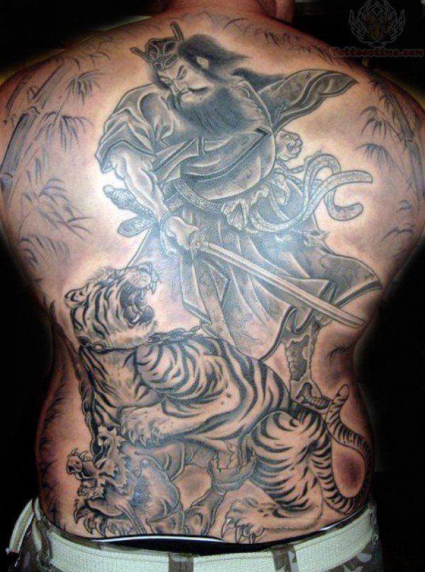 Tiger Japanese Samurai Tattoo On Back Tatoo Samurai Tattoo