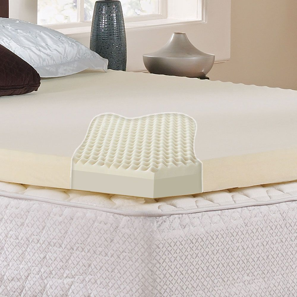 cervical contour beds cover cutting orthopedic double memory velour simple dcp lobe bed foam main deluxe with pillow