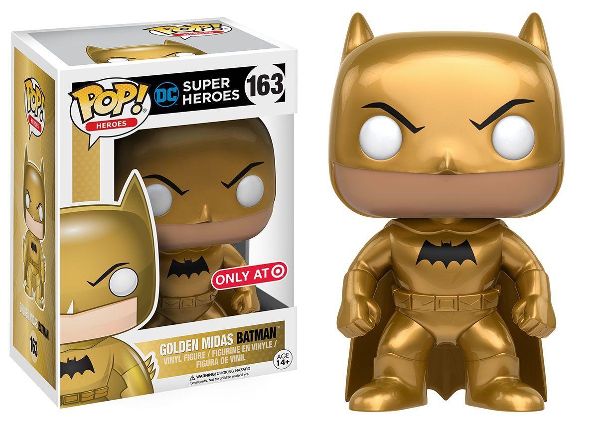 Pop Funko Golden Midas Batman 163 Funkos Pinterest