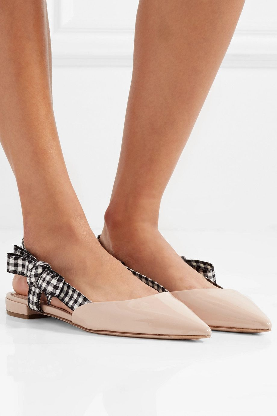 Miu Miu Patent Pointy-Toe Flat best place low cost sale online sale factory outlet pictures cheap price CMGJfw