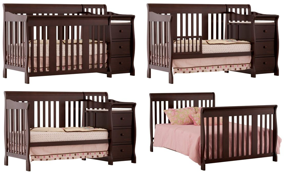 Stork Craft Portofino 4 In 1 Fixed Side Convertible Crib And Changer The Royal Centerpiece For Your Nursery Cribs Baby Cribs Convertible Best Baby Cribs 4 in 1 convertible cribs