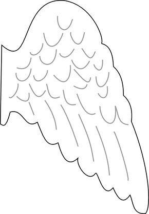 angel template Angel Wing clip art - vector clip art online - angels templates free