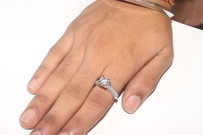 Real 14K Solid White gold 2.45c Round Brilliant cut Anniversary Engagement Ring https://t.co/N9bu9STgJV https://t.co/xuaVhaqvB5