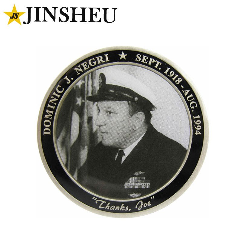 custom mono photo offset printing souvenir coin   Challenge Coins
