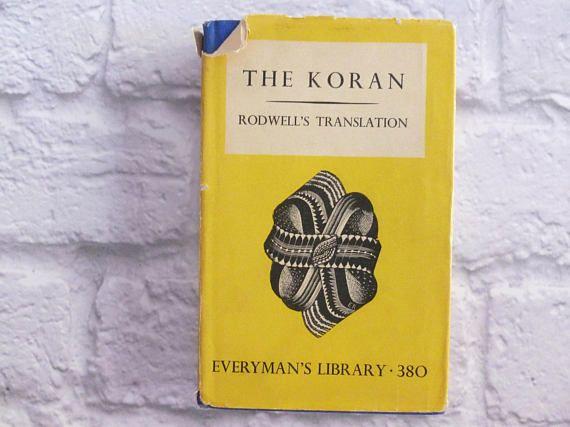 Vintage Book The Koran Translated from Arabic Reverend J M