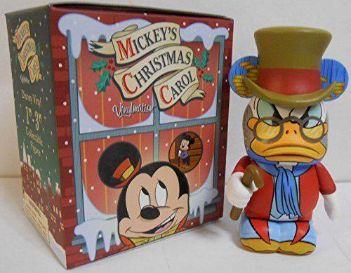 Mickey's Christmas Carol Ebenezer Scrooge McDuck Disney Vinylmation 3'' Figure Cute Disney Vinylmation