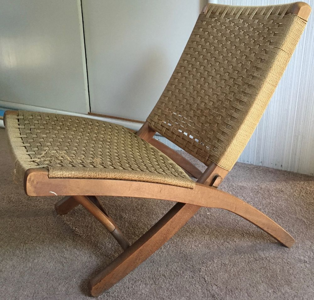 Peachy Vtg 60S Folding Rope Chair Mid Century Modern Retro Veda Afm Ocoug Best Dining Table And Chair Ideas Images Ocougorg