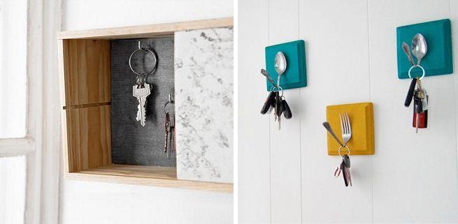 Caja decorativa para colgar las llaves small entrances but cosy pinterest cajas - Para colgar llaves ...