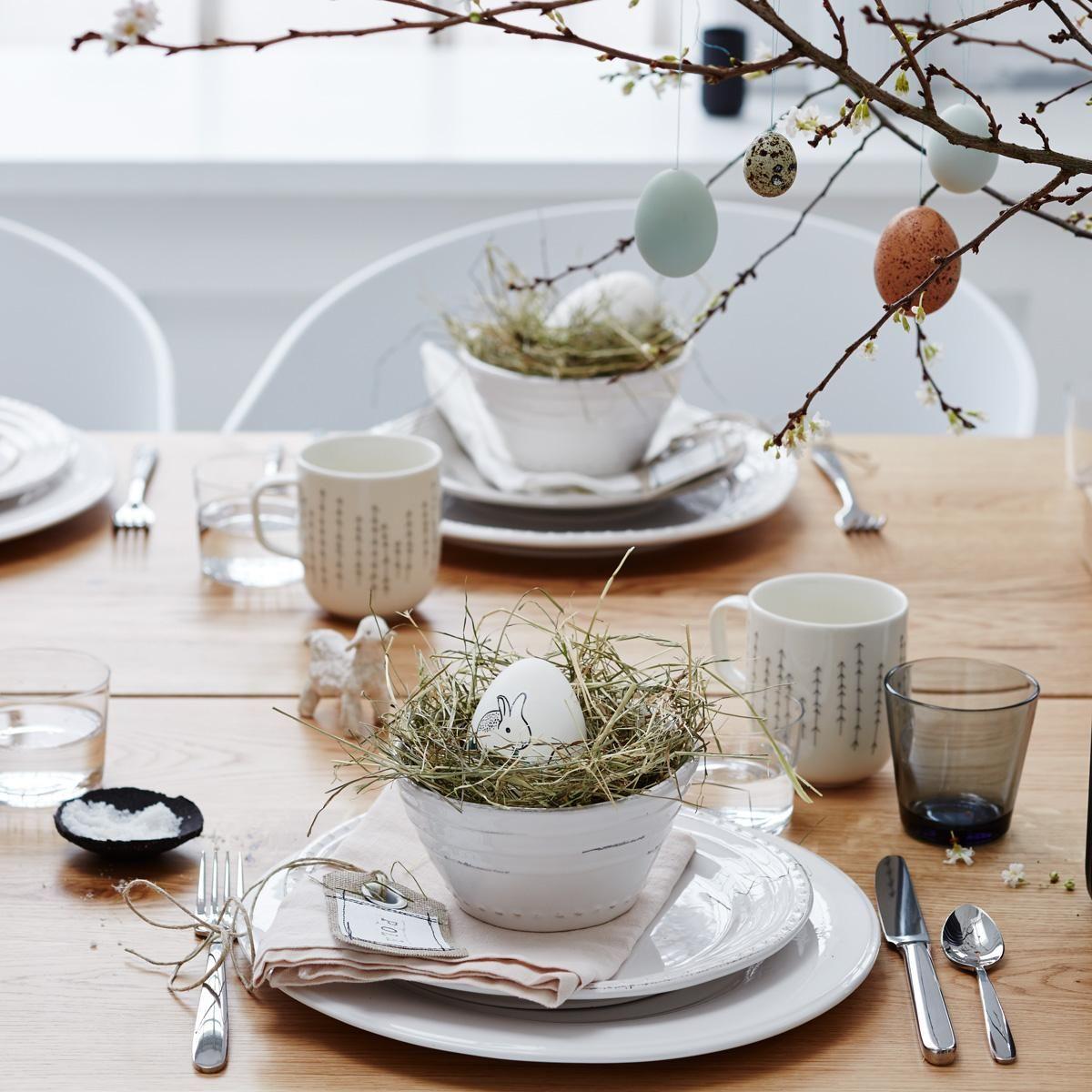 nat rliche osterdeko gedeckter tisch ostern osterdeko und ostern deko. Black Bedroom Furniture Sets. Home Design Ideas