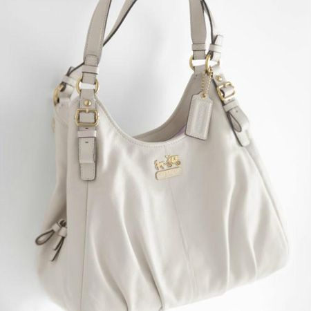 Definitely my next Coach bag ~ Madison leather maggie bag in white ...