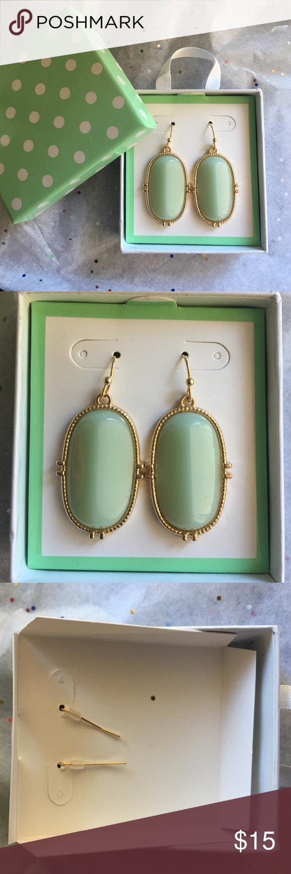 NIP beautiful earrings Brand new in package beautiful green and ...