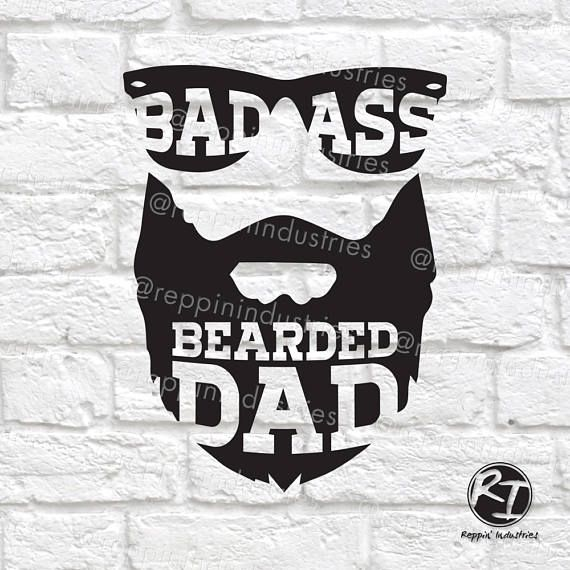 Download Beard Svg Dad Svg Bearded Dad Gifts for Dad Funny Dad ...