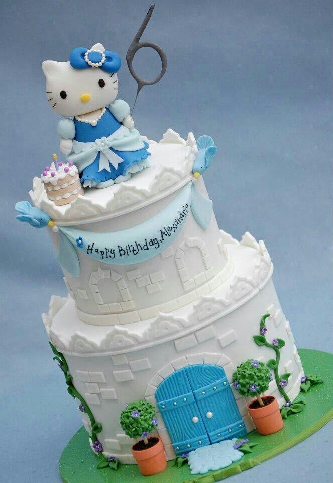 Princess Hello Kitty | Hello kitty birthday cake, Hello ...