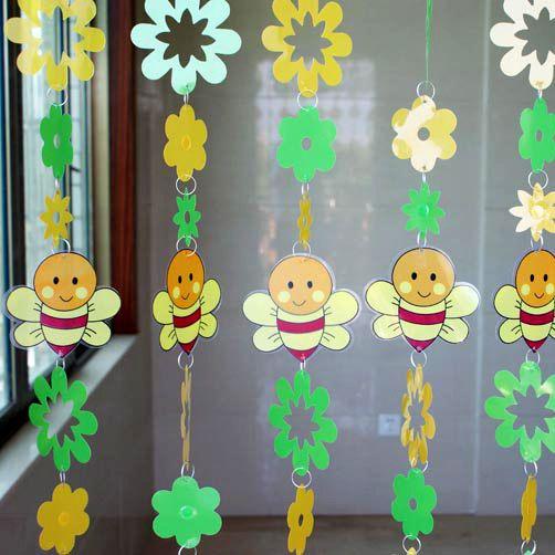 Env o gratis abeja de la historieta lentejuelas for Cortinas decorativas para puertas