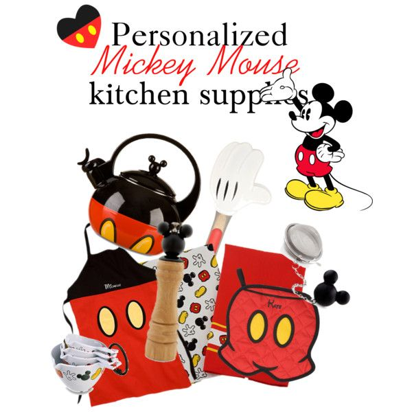 Mickey Mouse Kitchen Set, Created By Natalie Nicole 1 On Polyvore