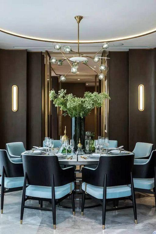 Formal Dining Room Round Table (103) #luxurydiningroom LOFT