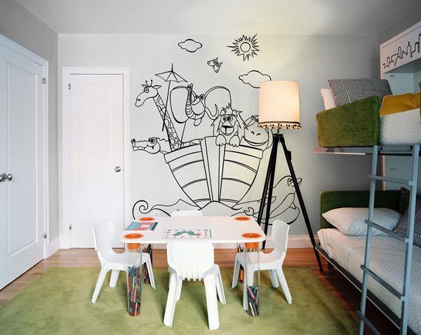 los niños pueden darles el color que quieran | papel mural-vinilos ...