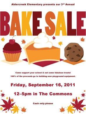 Fall Bake Sale Fall Bake Sale Bake Sale Flyer Sale Flyer