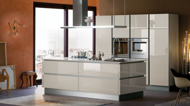Immagine della cucina RI-FLEX - vetro grigio corda | Idee per la ...