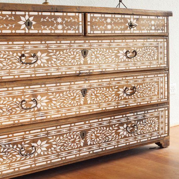 jaipur stencil indian inlay furniture floor craft stencil for painting jaip01 en 2019. Black Bedroom Furniture Sets. Home Design Ideas