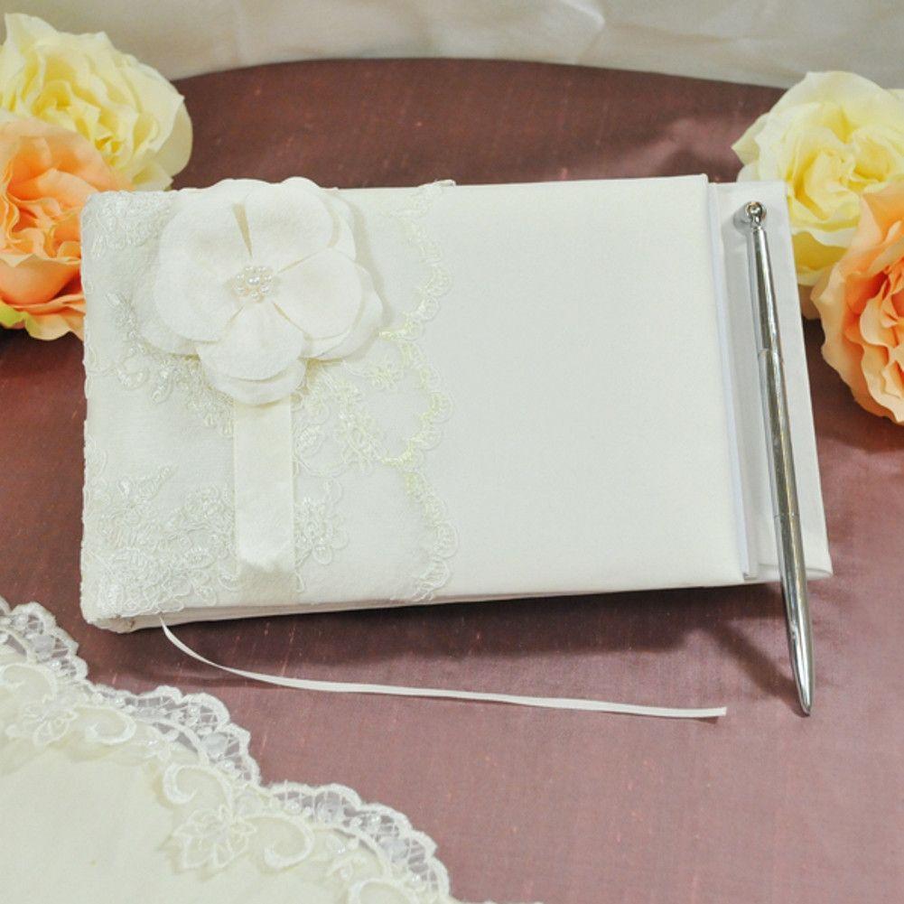 Vintage lace Guest Book and Pen Set | Products | Pinterest | Pen ...